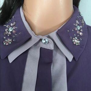 Princess Vera Wang S Shirt Beaded Embellished